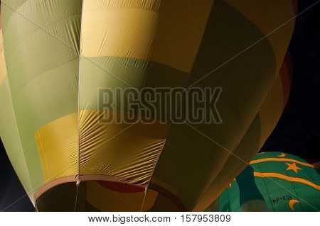 Hot Air Balloon coming up from behind