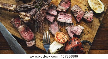 Steak Main Course Food Cuisine Gourmet Restaurant Concept