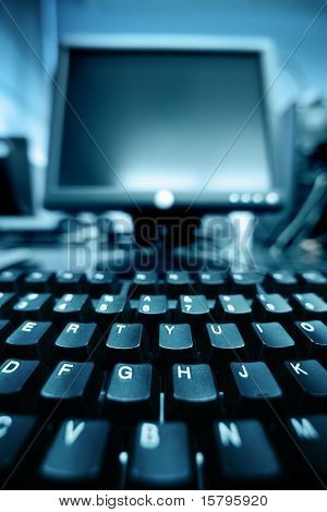 Computer keyboard detail background
