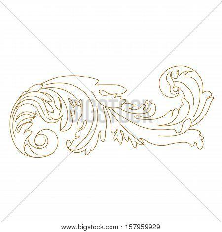 Golden vintage ornament, baroque ornament, scroll ornament, engraving ornament, border ornament, floral ornament, retro pattern, antique pattern, style acanthus pattern, foliage pattern, swirl pattern decorative pattern, filigree pattern. vector