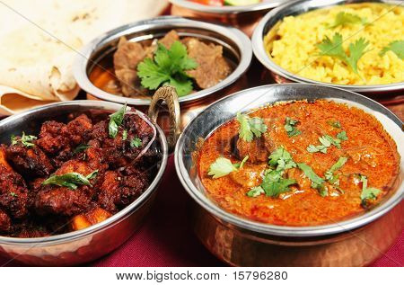 Chicken Fry And Lamb Curry