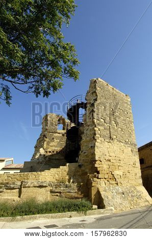 View of the Walls of Briones La Rioja Spain
