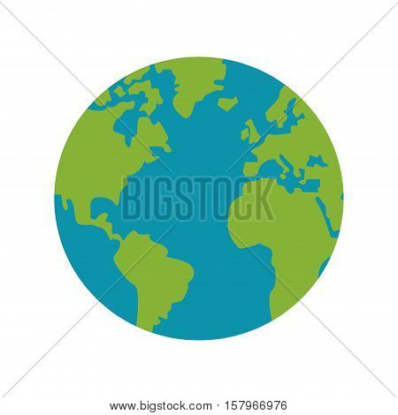 Planet sphere icon. Earth world globe and geography theme. Isolated design. Vector illustration