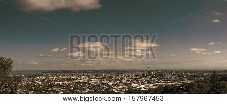Auckland Panorama. Toned Image