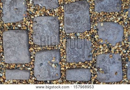 Brown Cobble Stone Pavement Texture And Background