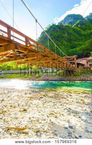 Kamikochi Under Kappa Bashi Bridge Low Angle V