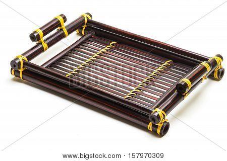 Bamboo Woven Shallow Storage Basket,