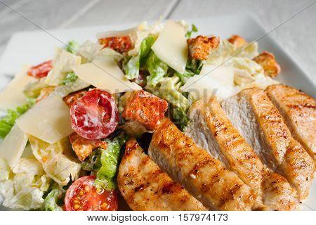 Caesar Salad Dining Side Dish Vegetable Appetizer Mediterranean Cuisine Concept
