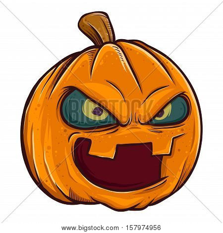 Vector stock of jack o lantern pumpkin head halloween monster
