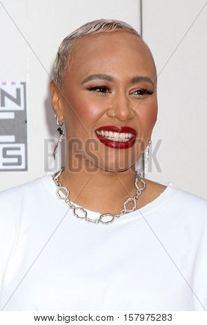 LOS ANGELES - NOV 20:  Emeli Sande at the 2016 American Music Awards at Microsoft Theater on November 20, 2016 in Los Angeles, CA
