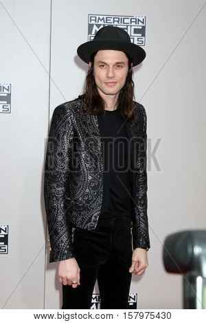 LOS ANGELES - NOV 20:  James Bay at the 2016 American Music Awards at Microsoft Theater on November 20, 2016 in Los Angeles, CA