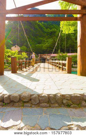 Kamikochi Opposite Bank Kappa-bashi Bridge Deck V