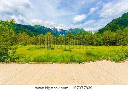 Kamikochi Viewing Platform Meadow Mount Hotaka H