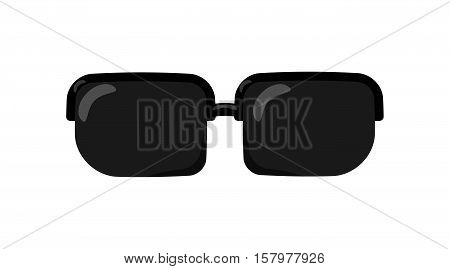 Black Sunglasses In Flat Style