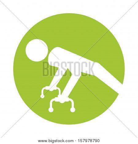 silhouette sportman gymnastic pommel horse vector illustration eps 10