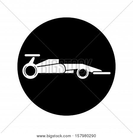 Race car icon. racing competition sport and speed theme. Isolated design. Vector illustration