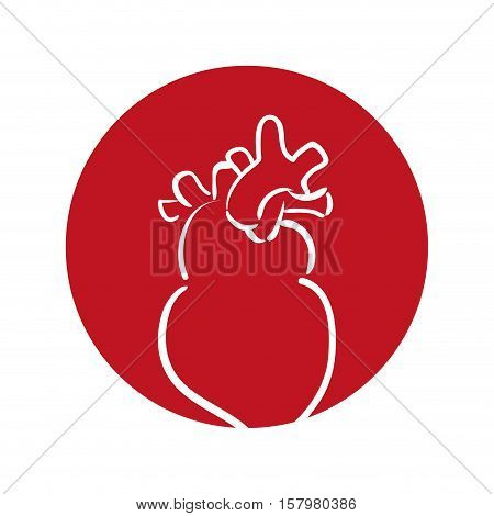 heart human organ health red background vector illustration eps 10