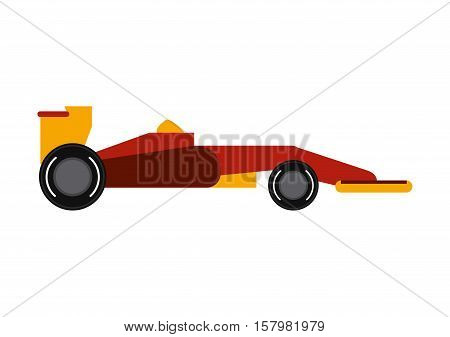 Race car icon. Formula racing competition sport and speed theme. Isolated design. Vector illustration