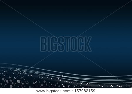 Abstract dark blue background with the light lines at the bottom