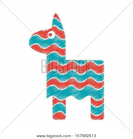 Pinata icon. Mexican culture tourism landmark and latin theme. Isolated design. Vector illustration