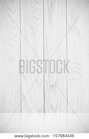 Detail white wood board texture image is vertical art pattern background effect light.