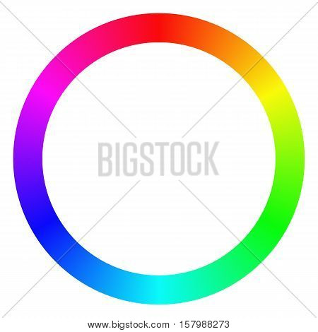 Isolated gradient rainbow ring color palette design