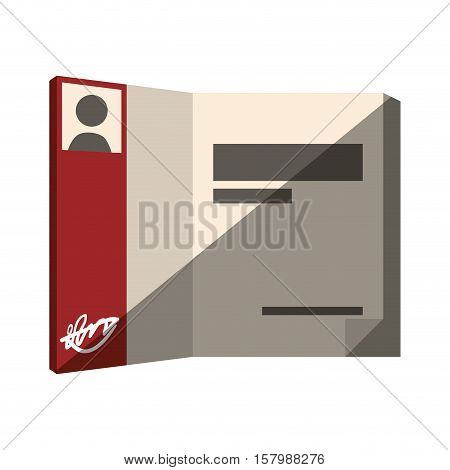 book open author signature photo design shadow vector illustration eps 10