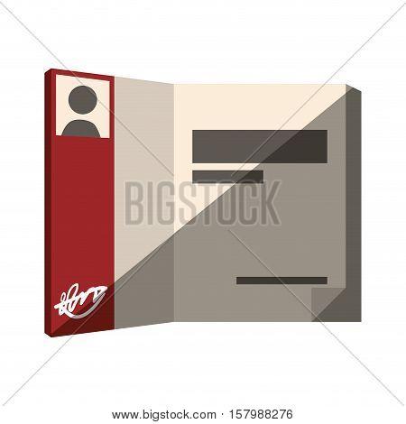 book open author signature photo design shadow vector illustration eps 10