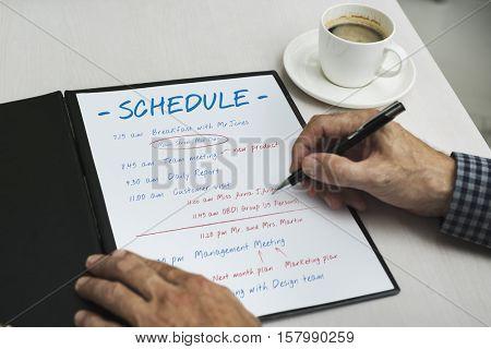 Schedule Daily Planner Organizer Concept