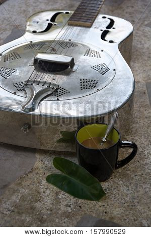 Relaxation comfort leisure vacation guitar coffee   beautiful.
