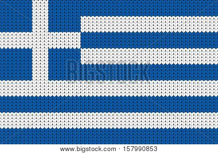 Knitted flag of Greece, knitted symbol of Greece