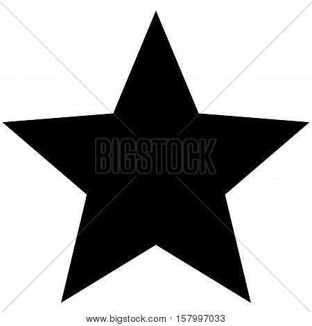Minimalistic black star icon template on white background