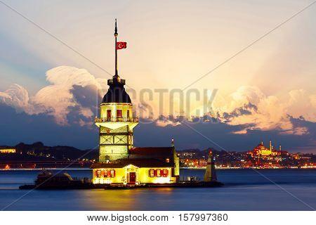 Maiden's Tower in istanbul, Turkey. Maiden's Tower in istanbul, Turkey