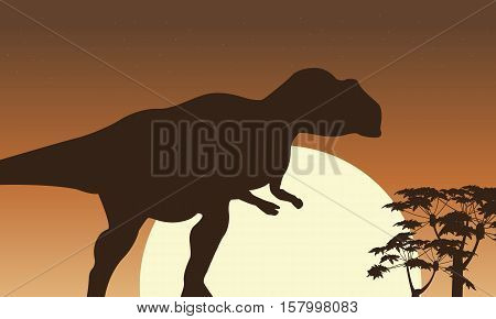 At sunrise mapusaurus scenery vector collection stock