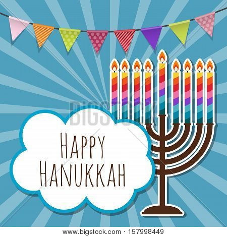 Abstract Background Happy Hanukkah, Jewish Holiday. Vector Illustration EPS10