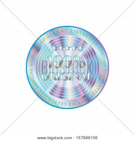 Holographic design illustration round shine shape sticker original quality emblem