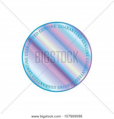 Holographic illustration round shape sticker quality emblem
