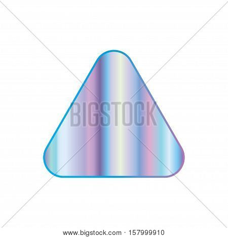 Holographic design illustration round triangle shape sticker