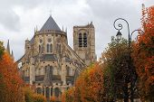Cathedral Saint-Etienne in autumn, Bourges, Centre, France poster
