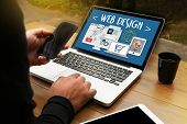 Web Design Software Media WWW and Website Design responsive web design poster