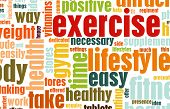 Exercise Fitness Lifestyle as a Background Art poster