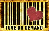 Love on Demand Escort Services Abstract Art poster