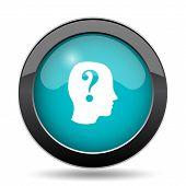 Quiz icon. Quiz website button on white background. poster