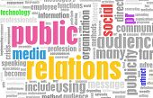 Public Relations PR Concept as a Abstract poster