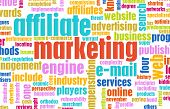 Affiliate Marketing Web Concept as a Abstract poster