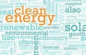 Clean Energy Concept Education as a Art Abstract poster