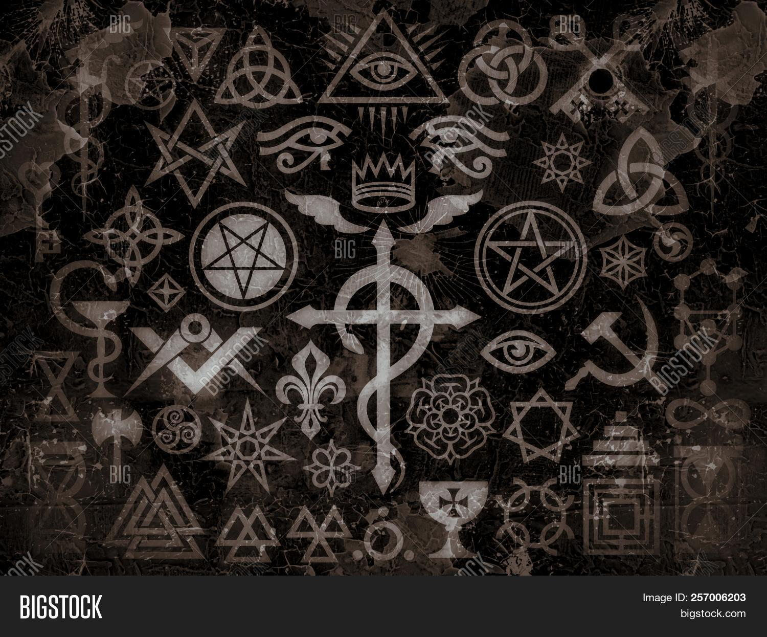 Medieval Occult Signs Image Photo Free Trial Bigstock