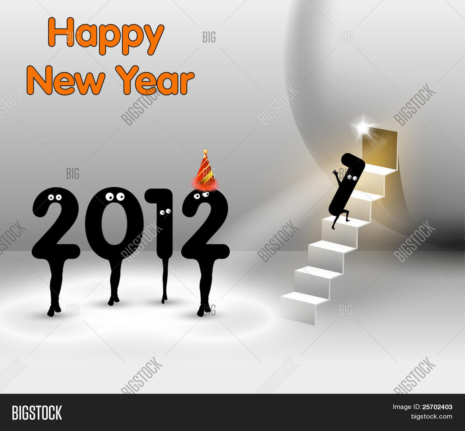 Funny New Year Card Vector Photo Free Trial Bigstock