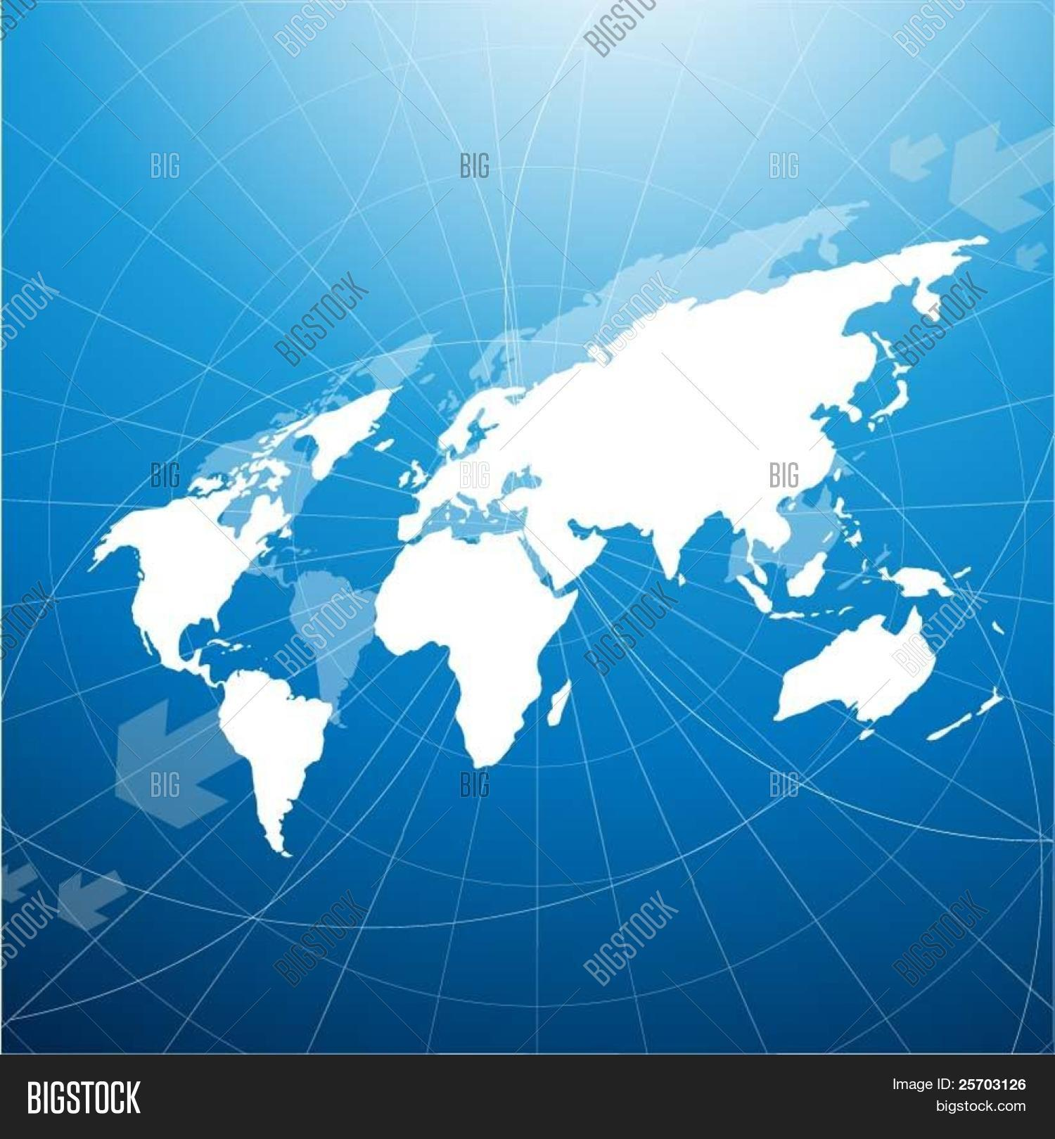 Perspective world map vector photo free trial bigstock perspective world map gumiabroncs Images
