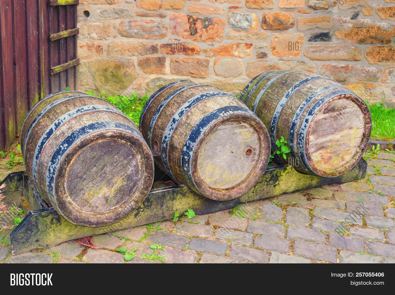 Oak Barrel Wine Barrel Image Photo Free Trial Bigstock